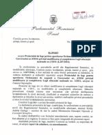 16L207CR - Raportul comisiei de invatamant din Senat privind proiectul de lege pentru adoptarea O...