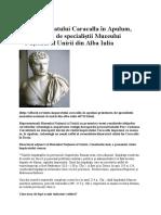 Vizita Împăratului Caracalla În Apulum