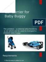 Car Carrier for Baby Buggy