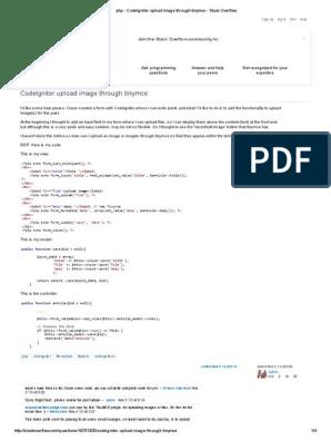 Php - CodeIgniter Upload Image Through Tinymce - Stack