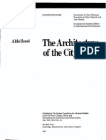 Rossi Aldo the Architecture of the City OCR Parts Missing