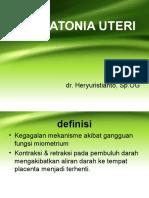 Dr.heryu, Presentasi Atonia Uteri