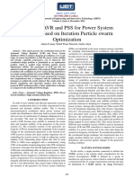 Design of AVR & PSS Fpr Power System Stability