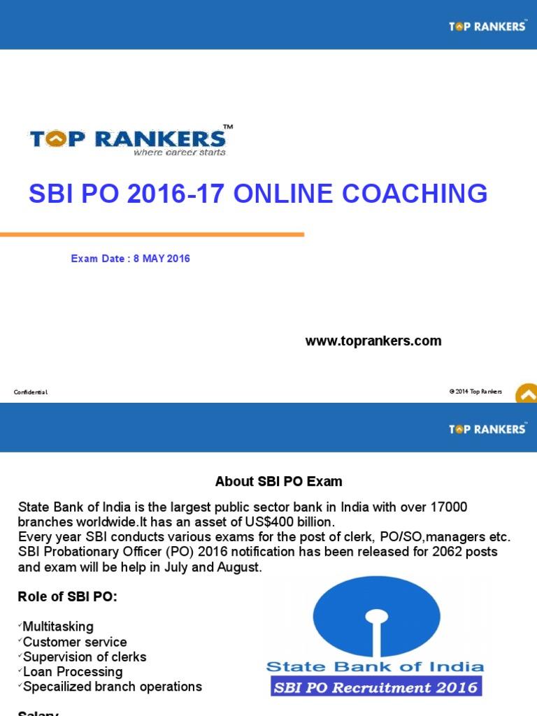 free online test for sbi po 2014