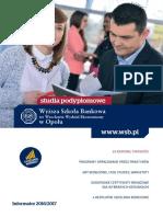 Informator 2016 - studia podyplomowe - Wyższa Szkoła Bankowa w Opolu.pdf