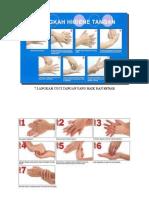 7 Langkah Cuci Tangan Yang Baik Dan Benar 3 Gambar Print