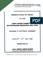 Memorandum by IPMAN