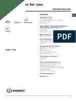 Manual Indesit IWSD4105