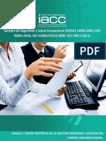 Gestión de Seguridad y Salud Ocupacional (OHSAS 18001:2007; ISO 45001:2016; ISO 31000/31010:2009; ISO 19011:2012