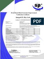 Integr8 IT-BEE Certificate Apr 2016- Apr 2017) /
