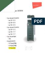 Velocitat escaner duplex Ineo+280