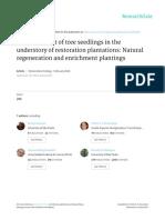 Bertacchi Et Al 2015 - Establishment of Tree Seedlings in the Understoryof Restoration Plantations - Natural Regenerationand Enrichment Plantings (1)
