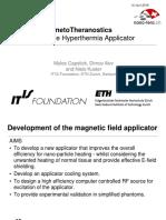 Magnetotheranostics - Nano-Tera 2016