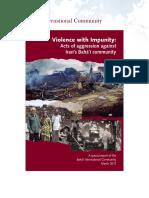 Baha'i International Community, Violence With Impunity