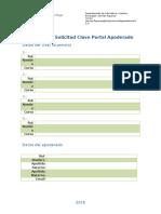Formulario Solicitud Clave de Apoderado Sistema Napsis