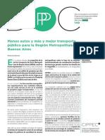 149 DPP ADE, Menos Autos y Más y Mejor Transporte Público Para La Región Metropolitana de Buenos Aires, Szenkman 2015
