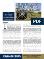 The Role of State and Local Government in Broadband Deployment