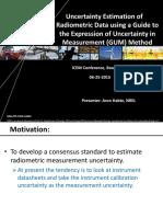 Uncertainty Estimation of Radiometric Data NREL