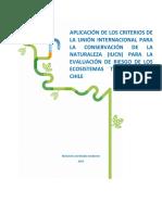 Aplicación Criterios Riesgo IUCN a Ecosistemas Terrestres Chile (Pliscoff, 2015)