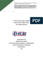 Manual de Seguridad en Prevencion de Factores de Riesgos Para Trabajadores Del Area de La Salud d