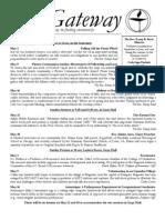 Gateway Newsletter, May 2010 - The Unitarian Church In Charleston
