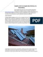 Diferencias Principales Entre La Energía Solar Térmica y La Fotovoltaica