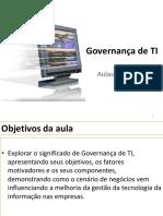 Governança de TI - Aula 1 e 2 - Slides