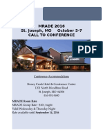 mrade 2016 call to conference