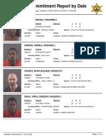Peoria County Jail booking sheet April 27, 2016