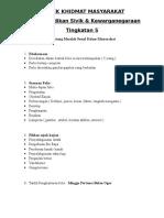 Projek Khidmat Masyarakat Form 5
