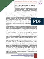 Mujeres Precarias- Mujeres en Lucha- 1 Mayo 2016