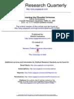Schlosberg-Resurrecting the Pluralist Universe