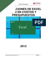 Tutorial Para Las Aplicaciones de Excel 2013 en Costos y Presupuestos CivilGeeks.com