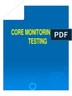 Core monitoring and testing - AC machines