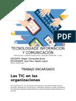 Las TIC en Las Organizaciones