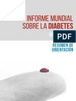 WHO Informe Mundial Diabetes Spa