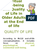 Spiritual Well-being and Quality of Life in Older Adults