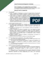 Reglamento de Suministro Eléctrico D.P.E.C.