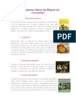 Los 8 Mejores Libros de Miguel de Cervantes