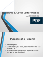 resume and cover letter presentation