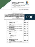 Cuadro Tarifario Resolucion 72-16