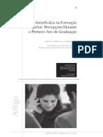 Autoeficácia Na Formação Superior - Percepções Durante o Primeiro Ano de Gradução