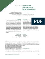 Evaluación Preoperatoria de La Hemostasia