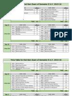 Time Table for End-Sem Exam Sem-II 2015-16.Xlsx