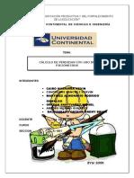 CÁLCULO DE PÉRDIDAS CON USO DE PIEZÓMETROS