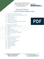 1.- Temario Del Taller de POO en Java