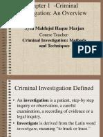 Basics of Criminal Investigations