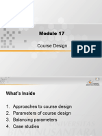 Course Design in ESP