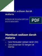 Membuat Sediaan Darah Malaria