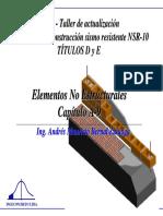 Elementos No Estructurales Muros y Concreto